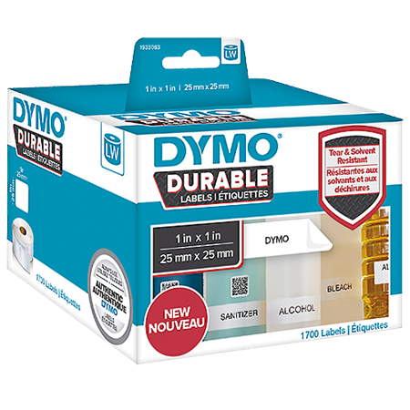 Universaletikett Dymo LabelWriter Durable 25x25 mm
