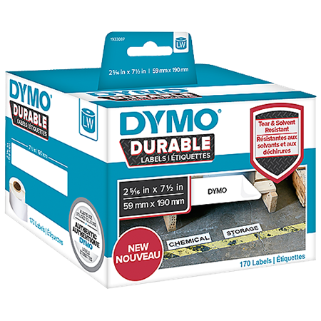 Hylletikett Dymo LabelWriter Durable 59x190 mm