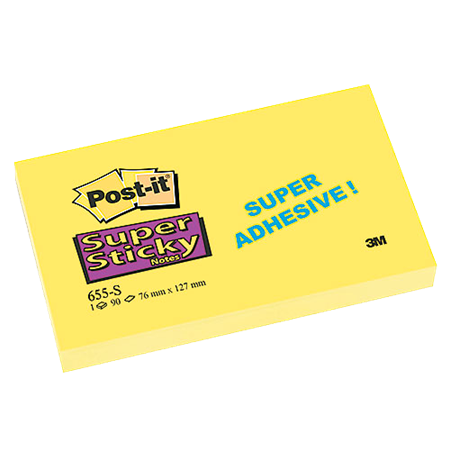 Post-it Super Sticky Notes Yellow 76x127 mm 12/fp